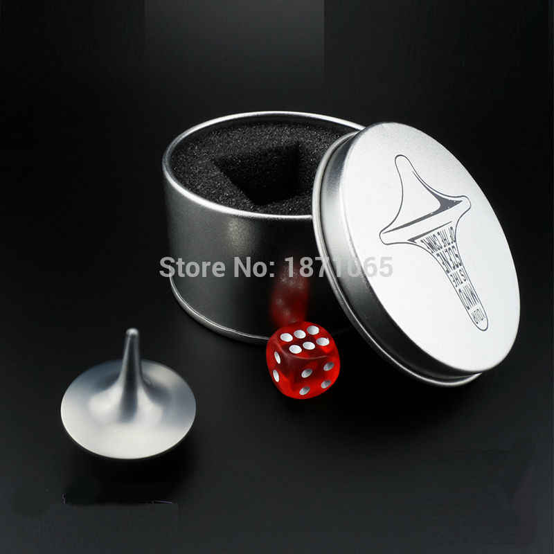 From The Inception Movie Inception Metal Spinning Top Totem Spinning-Top  With Box Birthday Gift Rotation Toy