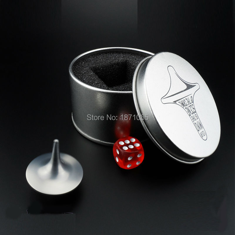 From The Inception Movie Inception Metal Spinning Top Totem Spinning-Top  With Box Birthday Gift Rotation Toy 陀螺 全面 啟動