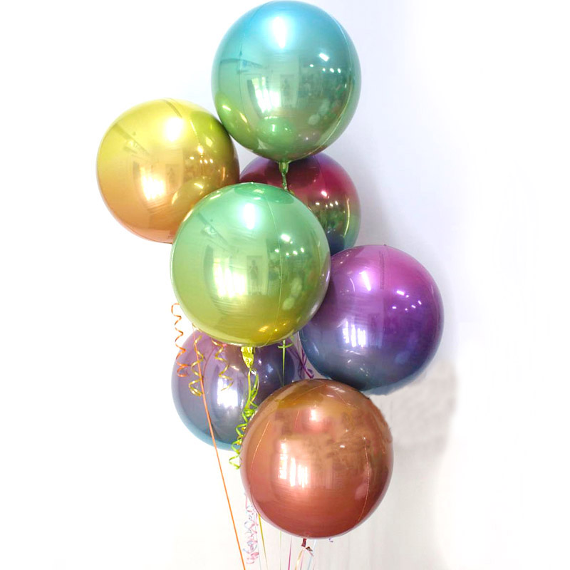 3pcs 22inch Wedding Balloons Gradient Rainbow Birthday Balloon Iridescent Globos Valentine's Day Party Decoration Helium Baloon