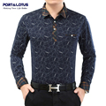 Port&Lotus Polo Shirt Men Brand Clothing Polos Brand Long Sleeve Cheap Polo Shirt JSL 001 101A