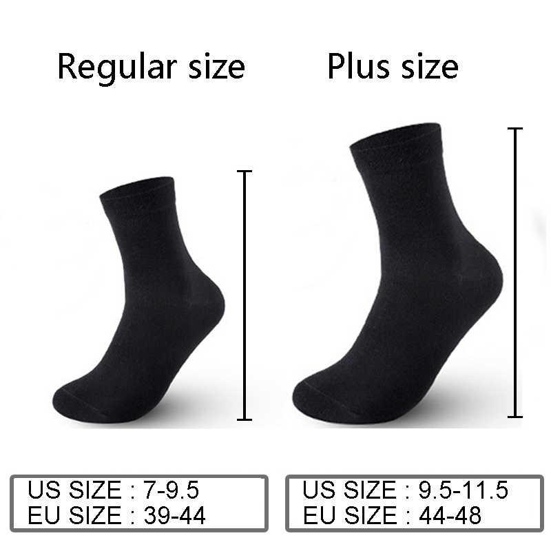 10 Paren/partij 2019 Mannen Katoenen Sokken Plus Size Zwarte Business Mannen Sokken Ademend Lente Zomer Herfst Voor Mannelijke Ons size(7-11.5)