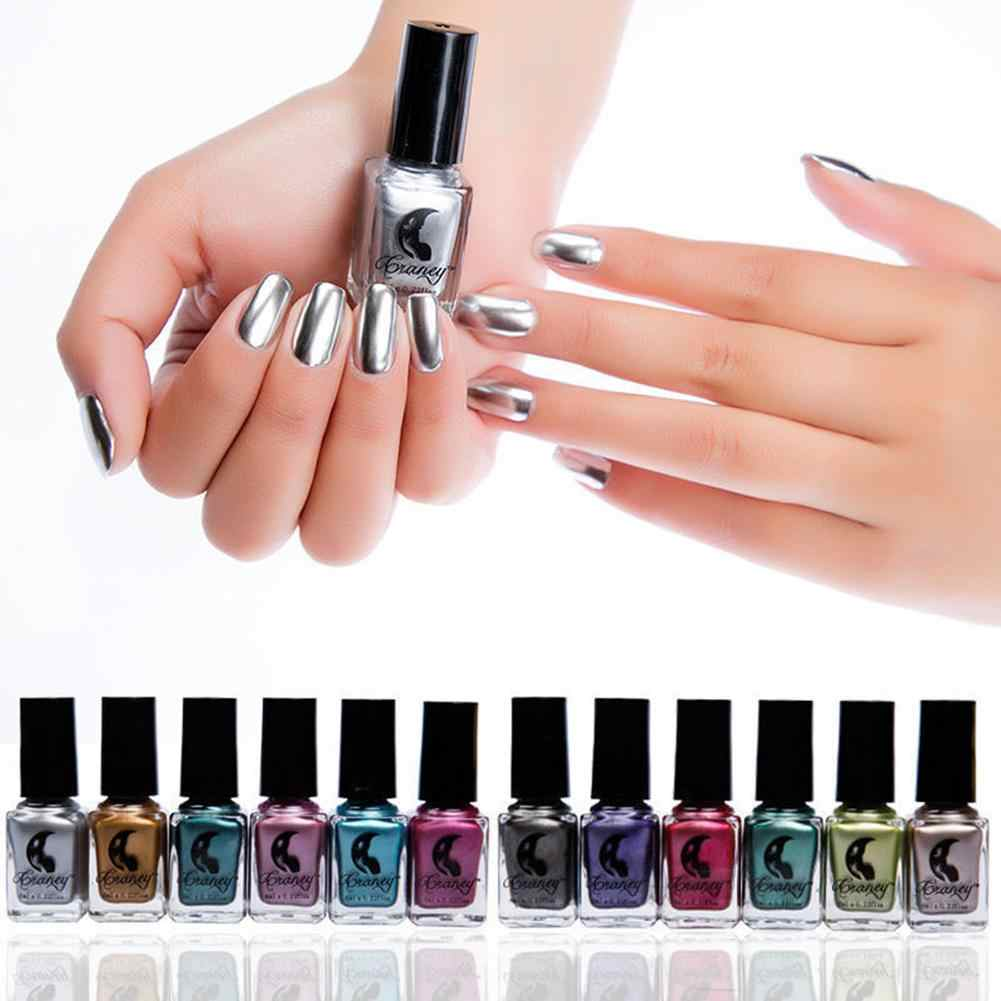 6ml Metallic Spiegel Effect Manicure Tool Nail Art Polish Semi Permanente Vernis Nail Tekening Ontwerp Sticker
