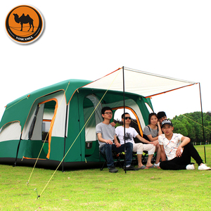 Image 2 - Samcamel 8 12 Person One Hall Two Bedroom Double Layer Waterproof Camping Tent Large Gazebo Carpas De Camping