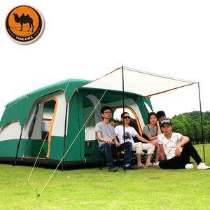 Image 2 - Samcamel 8 12 osoba jedna sala dwie sypialnie dwuwarstwowy namiot wodoodporny duży altanka Carpas De Camping