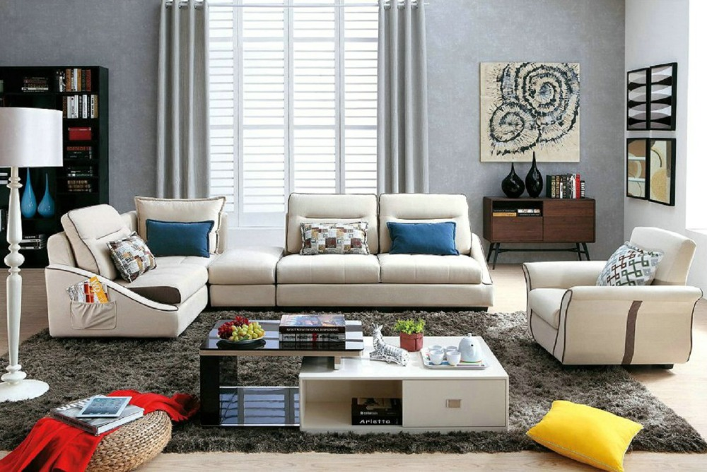 2016 Beanbag Chaise Sofas For Living Room European Style Set Modern Fabric Hot Sale Low Price Factory Direct Sell Fabri Sofa -in Living Room Sofas from ... : fabric chaise sofa - Sectionals, Sofas & Couches
