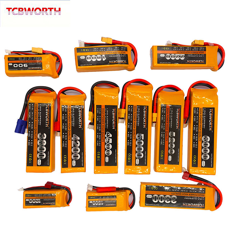 3S RC Toy LiPo Battery 11.1V 1200mAh 2800mAh 3800mAh 4200mAh 4500mAh 5200mAh 25C 35C 60C 3S For RC Airplane Drone Helicopter Car