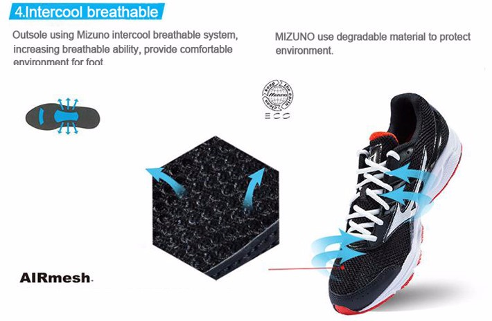 MIZUNO Men SPARK Mesh Breathable Light Weight Cushioning Jogging Running Shoes Sneakers Sport Shoes K1GR160370 XYP303 6