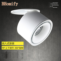 Mini Embedded LED Downlight Recessed Ceiling lamp 5W 7W 10W 360 degree rotation LED Ceiling Lamp Spot Light Downlight AC85 265V
