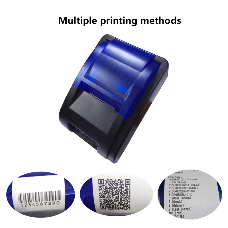 RUGLINE P58HU Bluetooth 4.0 USB Connecting 58mm Thermal Printer Tickets Printer For POS Android Windows Linux Receipts Printer