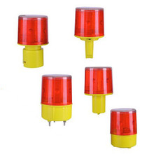 Red Rotating Beacon Warning Light Lamp Solar LED Emergency Warning Light LED Indicator Alarm Lamp Traffic Boat Lights Navigation keizik k a333 8 led shark gill solar side vent warning light black