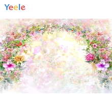 Yeele Wedding Backdrop Gradient FlowerWall Romantic Photography Backdrops Personalized Photographic Backgrounds For Photo Studio 10x10ft 3x3m scenic muslin backgrounds photography photo studio backdrops hand painted flower muslin backdrop wedding