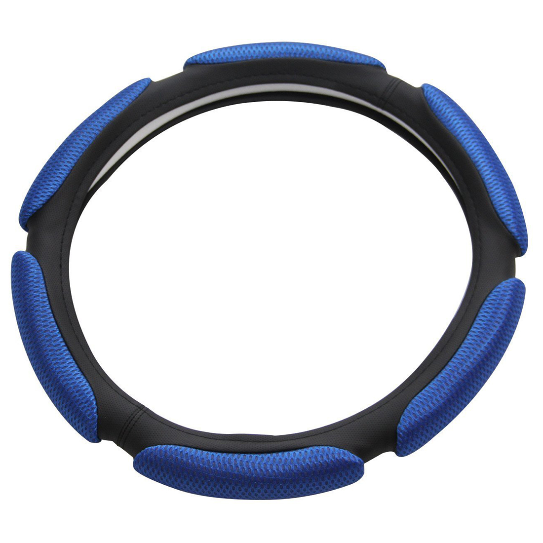 Air Mesh and Foam Padded Universal Steering Wheel Cover Fits 15 inches Steering Wheel Blue