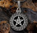 New Pewter Norse Vikings Pendant Necklace Celttic knot Pentagram Pentacle Star Pewter Wicca Pendant Necklace Free shipping