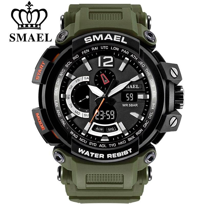 SMAEL hombres Top marca electrónico LED Digital relojes para hombre reloj deportivo hombres reloj militar Relogio Masculino 1702 xfcs