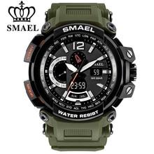 Homens Top Marca SMAEL Eletrônico Digital LED Relógios de Pulso Para Homem Homens Relógio Do Esporte Relógio Militar Relogio masculino 1702 xfcs