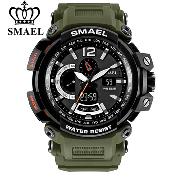 SMAEL Top Brand Luxury Sport Watch Men Digital Watches 5Bar Waterproof Military Dual Display Wristwatches Relogio Masculino 1702 - discount item  45% OFF Men's Watches