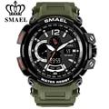 SMAEL Top Marke Luxus Sport Uhr Männer Digitale Uhren 5Bar Wasserdichte Military Dual Display Armbanduhren Relogio Masculino 1702|Sportuhren|Uhren -