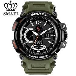 Smael homens marca superior eletrônico led digital relógios de pulso para masculino relógio do esporte masculino militar relogio masculino 1702 xfcs