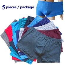 5 unids set ropa interior de algodón de los hombres boxeadores de los  hombres del boxeador Plus tamaño Vogue bragas pantalones c. 22764f4349ab