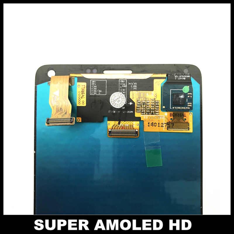 AMOLED телефон ЖК-дисплей для samsung Galaxy Note 4 N910 N910A N910F Note4 ЖК-дисплей с сенсорным экраном дигитайзер сборка бесплатная наклейка