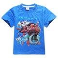 3-10 anos meninos de Verão T-Shirt roupas para Crianças 2017 dos desenhos animados T-shirt crianças Top T-shirt para meninas roupas T camisa