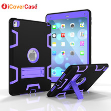 Armor Case For iPad Pro 2016 Full Body Heavy Defender Protector Stand Cover For