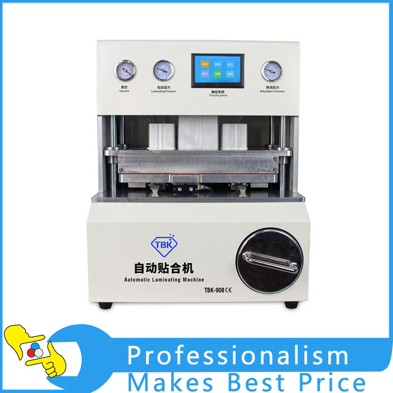 220V TBK-908 Vacuum OCA Automatic Laminating Machine New tbk lcd repair equipment oca vacuum laminator machine 3 in1 automatic oca film machine aluminum alloy automatic separator