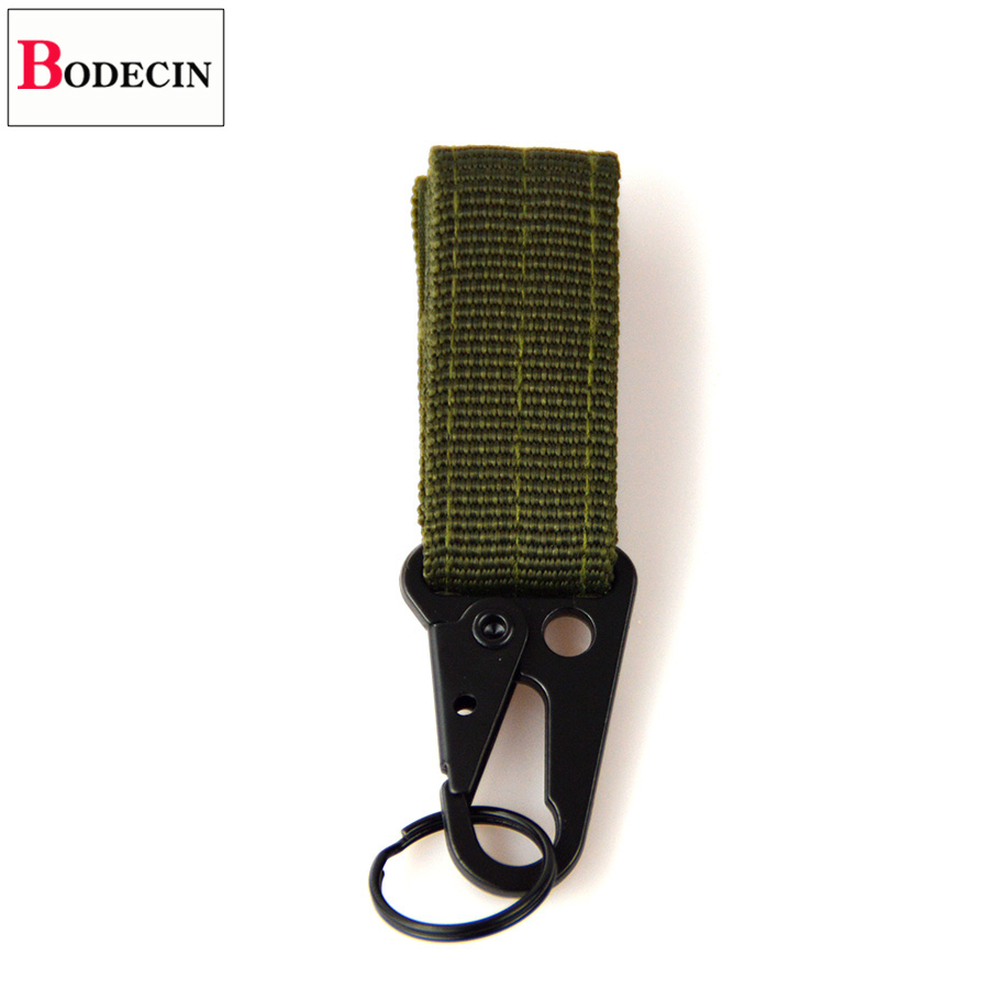 Outdoor Tools EDC Gear Camping Tactical Nylon Belt Clip Keychain Snap Hooks Bushcraft Molle Webbing Buckle Carabiner For Keys (3)