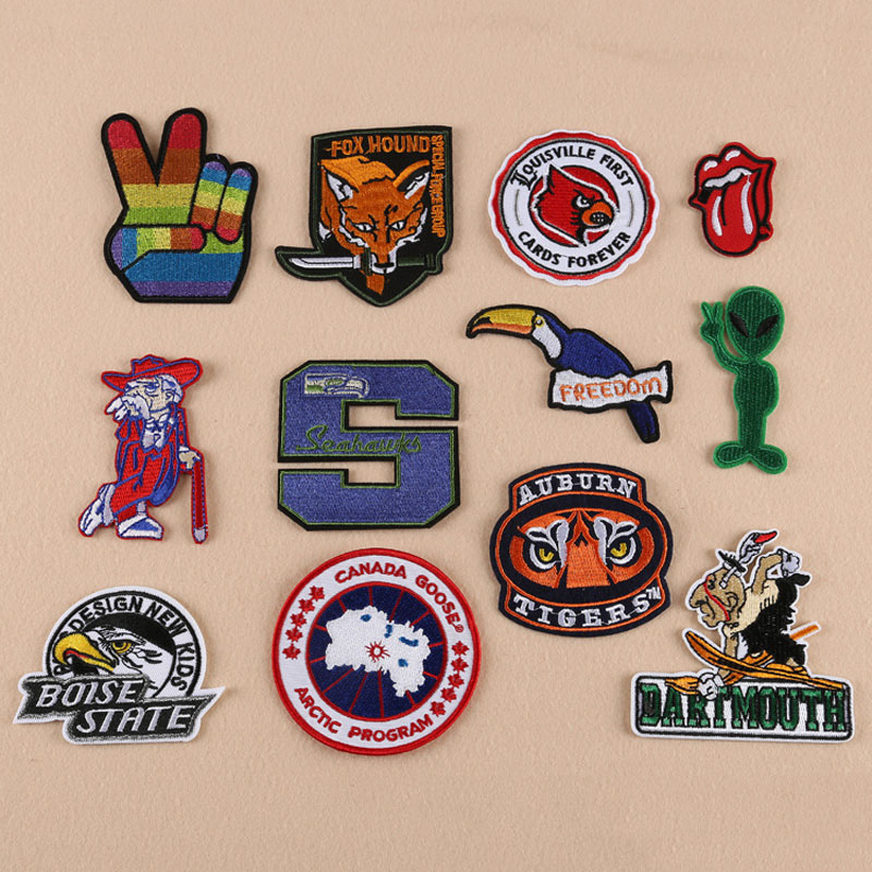Cloth wholesale boutique patch high-end clothing accessories badge coat of arms spot factory direct sales