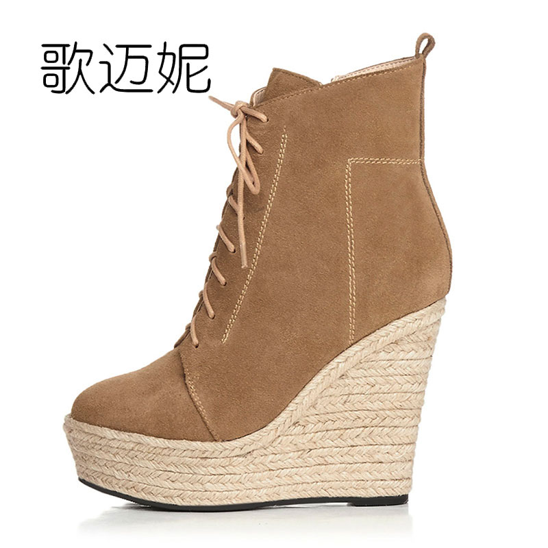 womens winter high heel ankle boots women punk platform wedge boots fashion bota de neve women's boot botas mujer laarzen cuddlyiipanda 2017 punk boots women black ankle boots motorcycle thin high heel double buckle punk platforms botas mujer