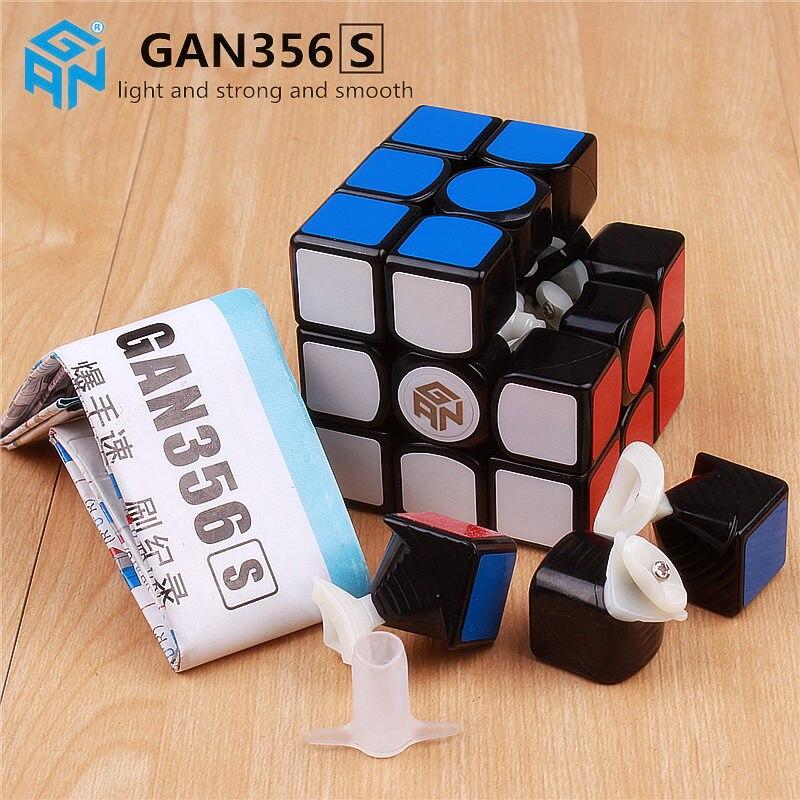 Gan 356 s lite cube de vitesse magique professionnel 3x3 puzzle cubes gans 356 s version jouets pour Enfants gan356 R