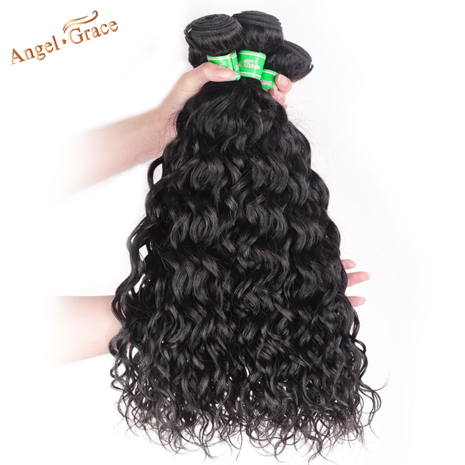 Angel Grace волосы волна воды бразильские волосы 3 пучка 100 г/шт. человеческие волосы для наращивания натуральный цвет Remy человеческие волосы пучки