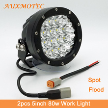 hot deal buy round led work light 5inch led driving light 80w led off-road spotlights spot flood for 12v 24v pickup suv 4x4 4wd truck tractor