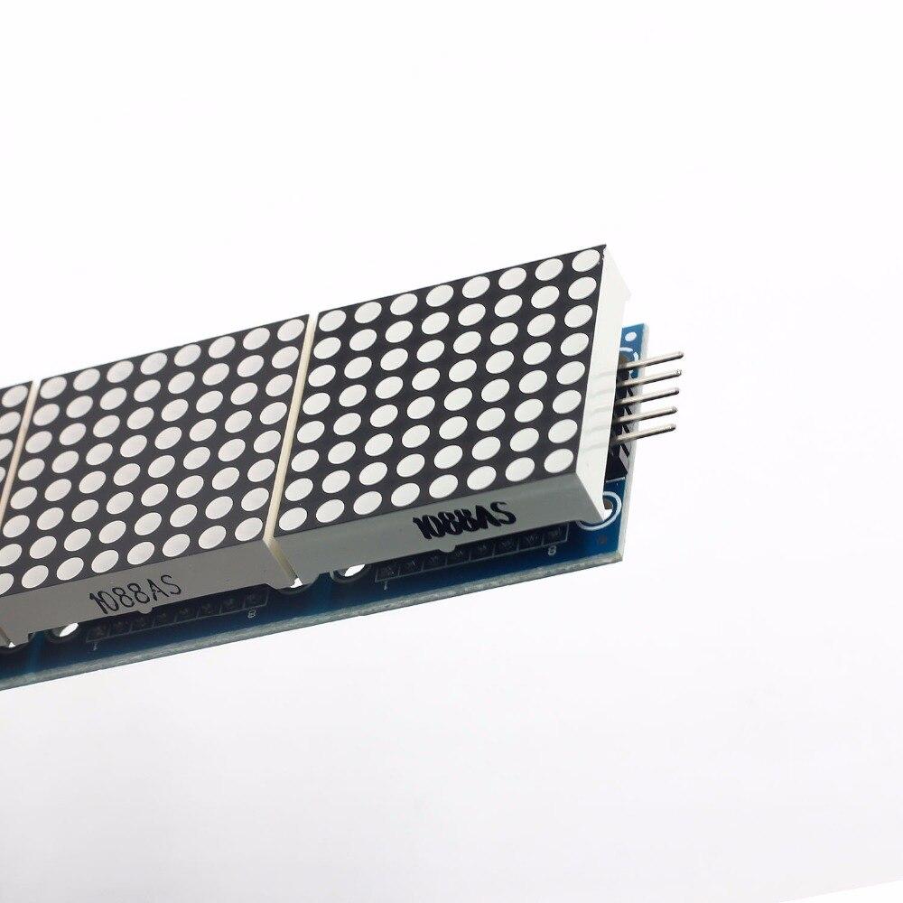 MAX7219 moduł macierzy punktowej mikrokontroler 4 w jednym wyświetlaczu z linią 5P