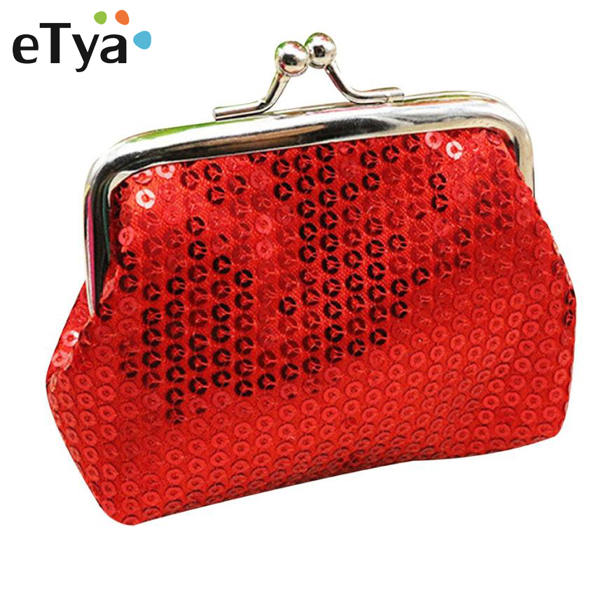 eTya New Fashion Casual Women Mini Wallet Coin Purse Change Clutch Bag Female Wallets Paillette Lady Small Purses women coin purses european and american fashion long wallet female change purse ladies casual clutch card bag monederos mujer