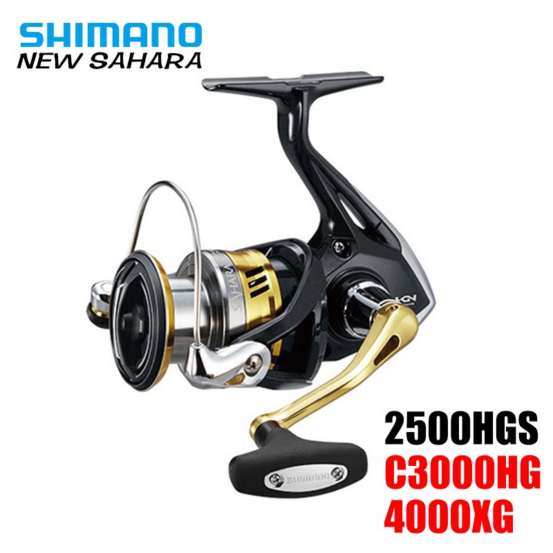 100 Original Shimano SAHARA 2500HGS C3000HG Spinning Fishing Reel 4 1BB powerful spinning reel Hagane Gear