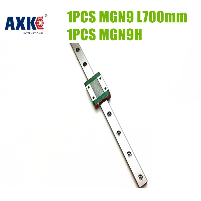 AXK 1PC L=700MM Mini Linear Rail Way Linear Guide MGN9 And A MGN9 Long Linear Carriage Kossel Pro Parts New MGN9H
