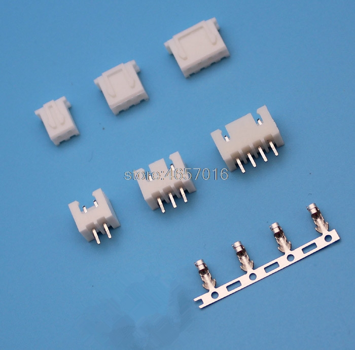 20 kits <font><b>XH</b></font> <font><b>2.54mm</b></font> 2/3/4/5/6/7/8/9/10/12pin JST Connector plug Male, Female, Crimps image