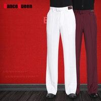 מכנסיים ריקוד לטיני הווה עבור שחור לבן זכר בורגונדי גריי בד מכנסיים גברים מכנסיים שלב מודרני צ 'צ' ה אולם נשפים ואלס Y160