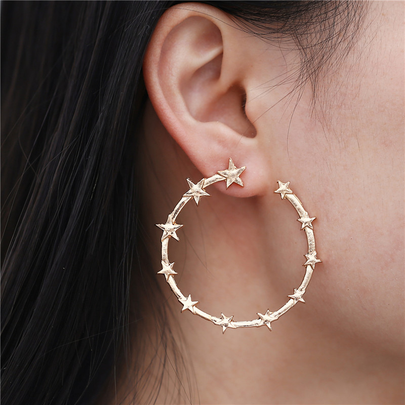EK854-Fashion-Gold-Color-Stars-Hoop-Earring-for-Women-Geometric-Round-Pentagram-Earrings-Personalized-Exaggerated-Jewelry