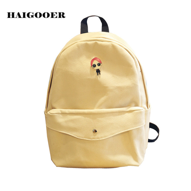 b196ae9ae9 Fashion Women Backpack High Quality Canvas Bag Girl Student Cute Fresh  Backpacks Cartoon Prints School Bags for Teenage Girls