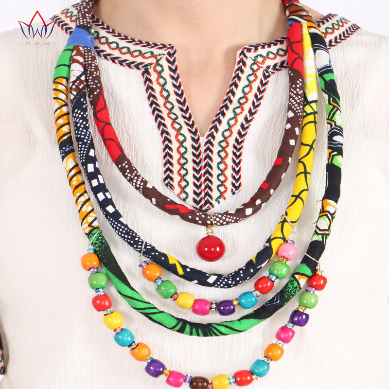 choker for Bohemia Style Women Favourite Pendants Rope Chain Statement Pure handmade african cotton necklace africa bazin riche