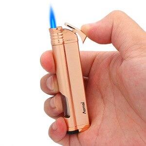 Image 2 - רצועת Jet בוטאן סיגר מצית לפיד טורבו צינור מצית סיגריות 1300 C אש Windproof אין גז