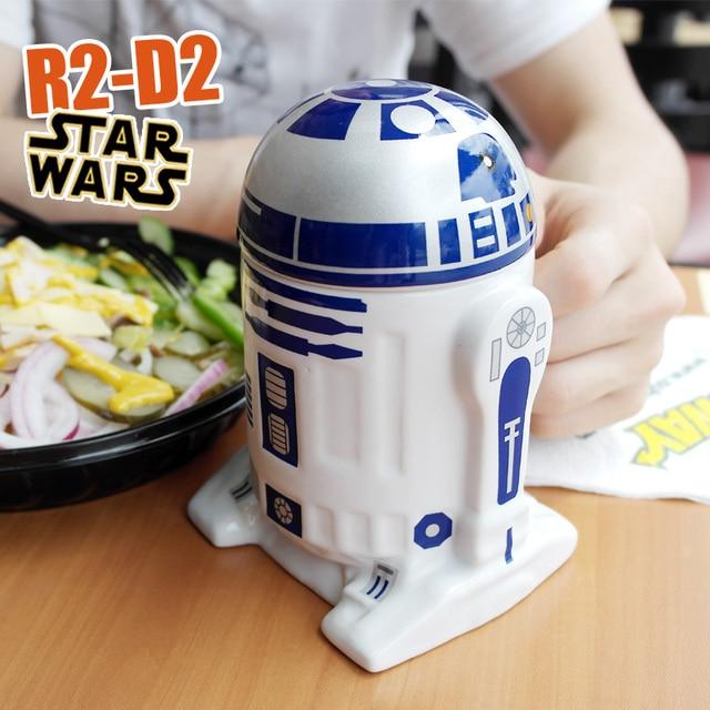 Star Wars R2-D2 Robot Ceramic Mug Coffee Cup Fun Porcelain Tea Cup Zakka Tumbler Gift