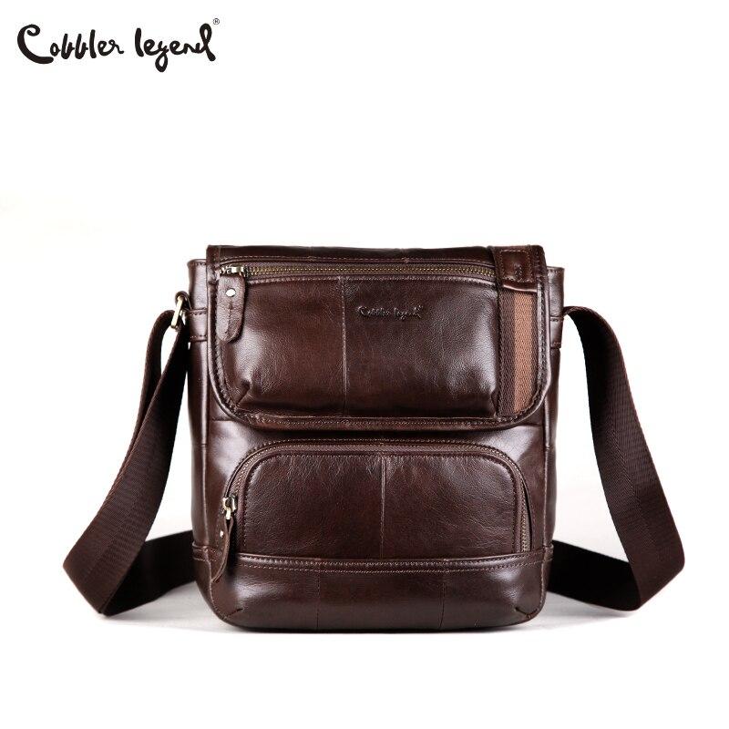 Cobbler Legend Cow Genuine Leather Men Messenger Bags Men's Shoulder Bag