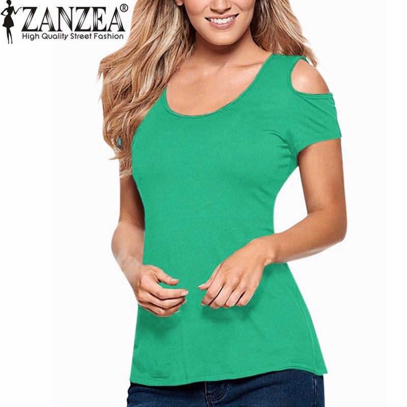 ZANZEA 2018 Ljeto Blusas Seksi žene bluze čipke kukičanje kratki - Ženska odjeća - Foto 3