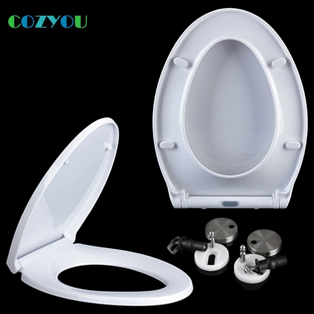 COZYOU PP Toilet seat Soft close Quick Release V shape Easy Clean toilet lid, Length 425 to 495mm,Width 350 to 360mm GBP17323SV
