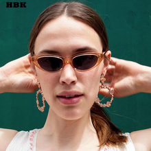 HBK Cat Eye Sexy Luxury Top Sunglasses For Female Clear Fram