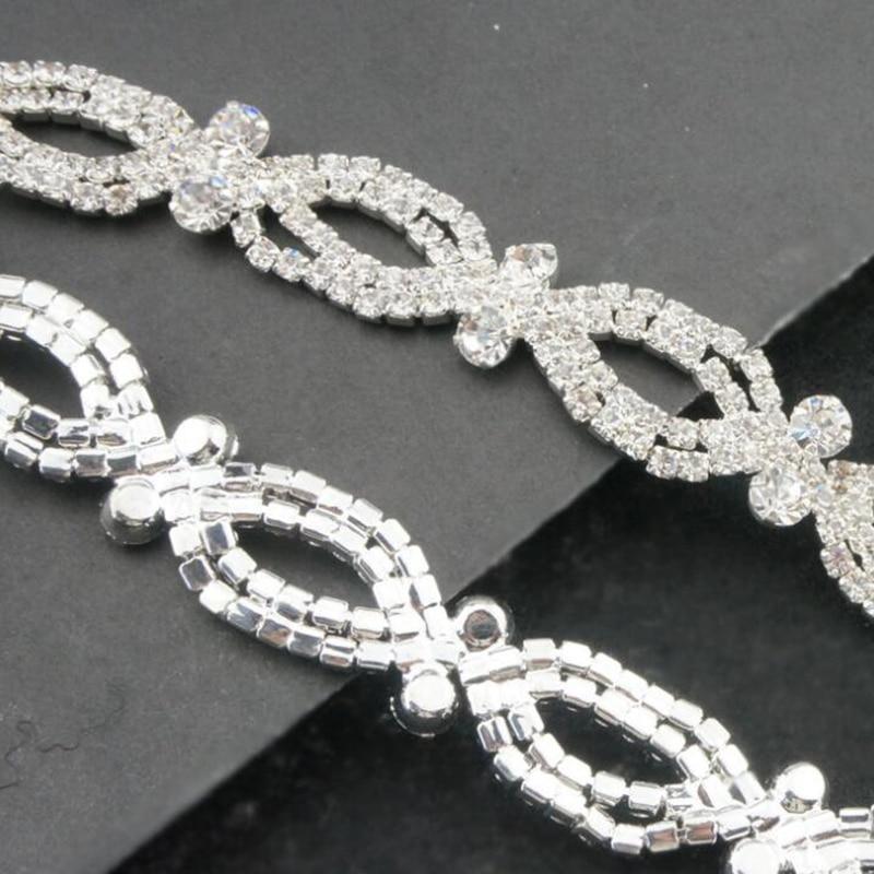 10Yards Clear Crystal Rhinestone Trim Applique Rhinestone Trimming Sew On Sewing Crafts For Wedding Dress Bridal Sash Belt