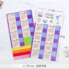 New 2019 calendar stickers notebook planner decorative sticker mini calendar label index bookmark Kawaii stationery 2 pcs/pack